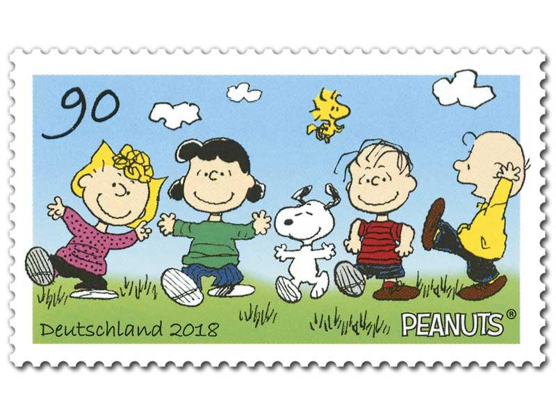 alles peanuts snoopy im stempelbild junge briefmarkenfreunde herford